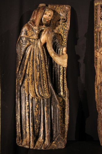 16thC Pair of Saints Abbots,. Spain - Sculpture Style