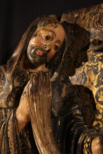 16thC Pair of Saints Abbots,. Spain -