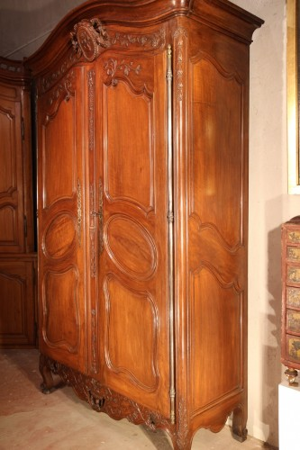 "Furniture  - Middle of 18thC  marriage ""armoire"" (wardrobe) From Provence"