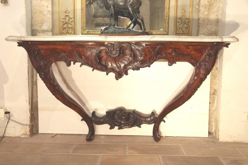 Frenc provencal Louis XV important console - Furniture Style Louis XV