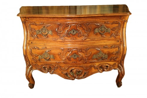 "18thC ""Sauteuse Commode"" said ""with lunette"" Provence"