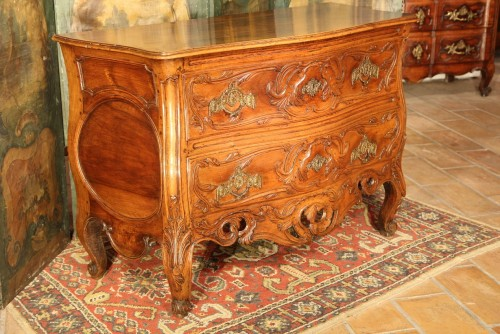 "18th century - 18thC ""Sauteuse Commode"" said ""with lunette"" Provence"