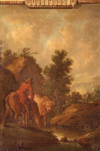 Late 18th C Louis XVI trumeau. - Mirrors, Trumeau Style Louis XVI