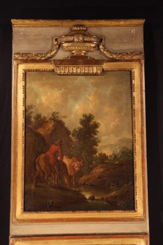 Mirrors, Trumeau  - Late 18th C Louis XVI trumeau.