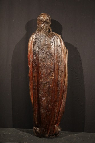 Late 15th C statue of a Holy Woman. Burgundian-Flemish work.  -