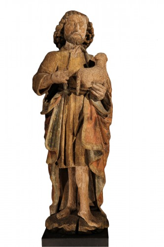 Middle of 16thC. St John the Baptist in Oak wood with traces of polychromy