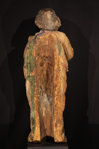Middle of 16thC. St John the Baptist in Oak wood with traces of polychromy -