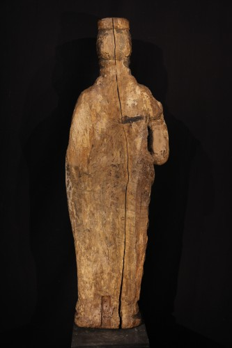<= 16th century - Ste Catherine of Alexandria. Early 16th C statue from France.