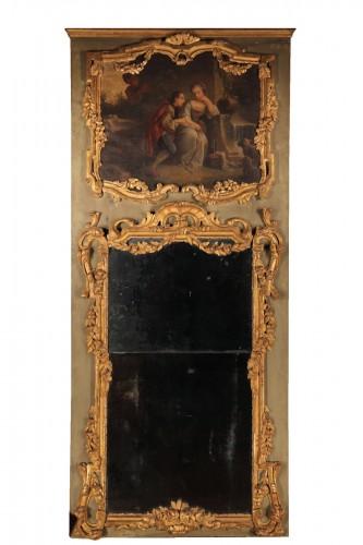 18th C Regency pier glass.