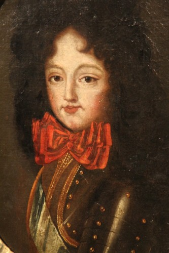 17th C French school. Half-length portrait of a young lord in armour. - Paintings & Drawings Style