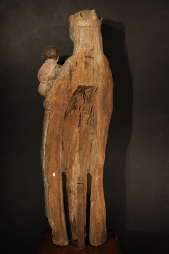 11th to 15th century - 14thC Virgin and Child. Important sculpture in polychrome wood. From France