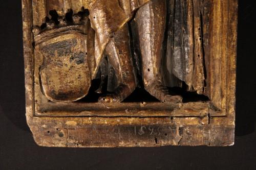 Sculpture  - Polychrome and gilt wood panel dated 1525. Bamberg (Bavaria) Henri II