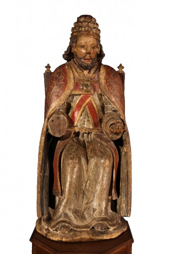 God the Father as Supreme Pontiff. Late 16th C statue from Northern France.
