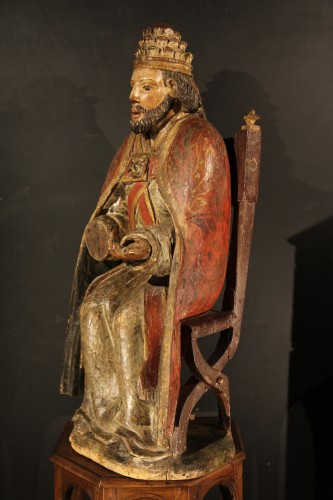Sculpture  - God the Father as Supreme Pontiff. Late 16th C statue from Northern France.
