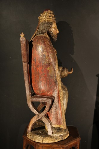 <= 16th century - God the Father as Supreme Pontiff. Late 16th C statue from Northern France.