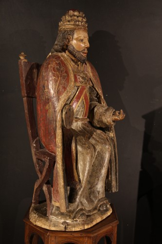 God the Father as Supreme Pontiff. Late 16th C statue from Northern France. -