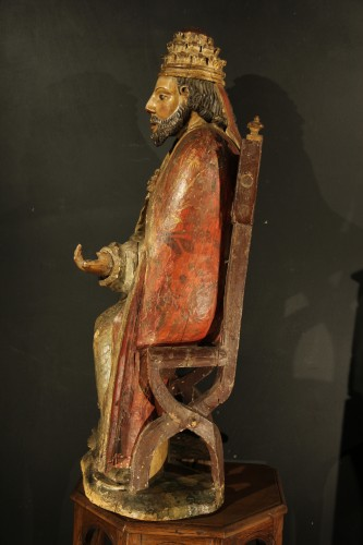- God the Father as Supreme Pontiff. Late 16th C statue from Northern France.