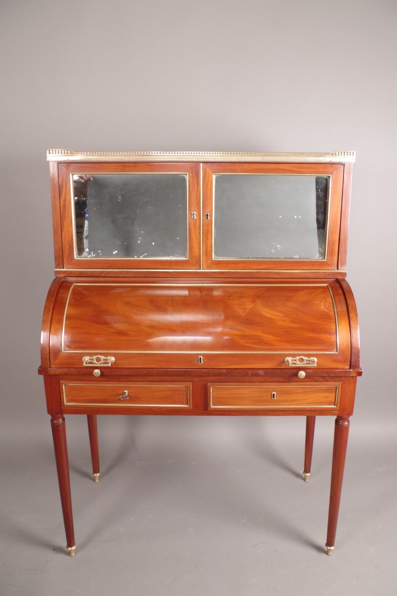 bureau cylindre poque louis xvi xviiie si cle. Black Bedroom Furniture Sets. Home Design Ideas