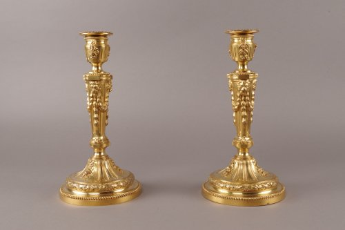 A late 19th century pair of candlesticks - Lighting Style Napoléon III