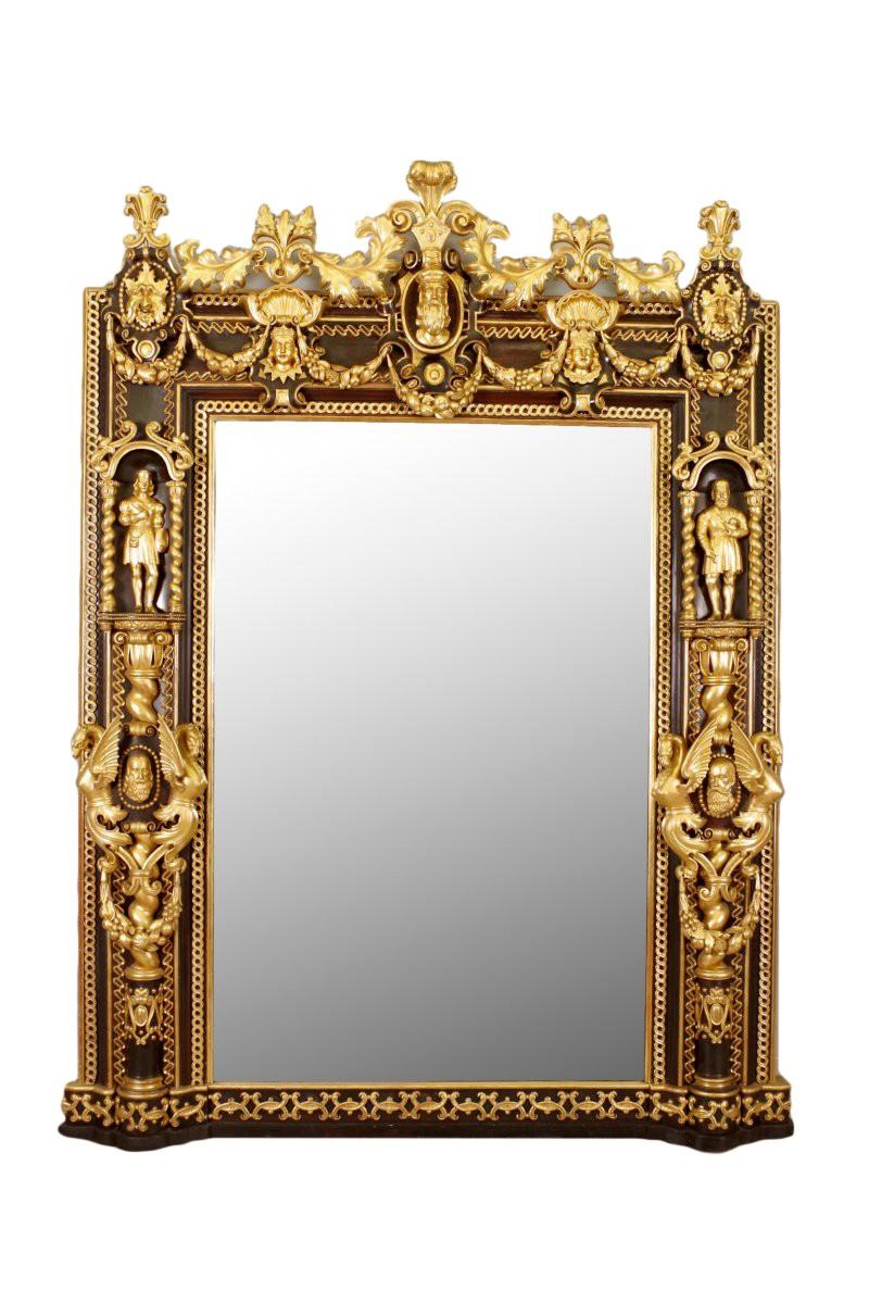 Miroir de ch teau style troubadour xixe si cle for Miroir de style