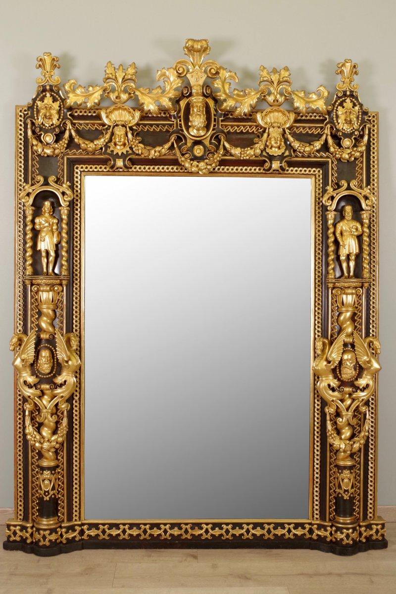 Miroir de ch teau style troubadour xixe si cle for Miroir style
