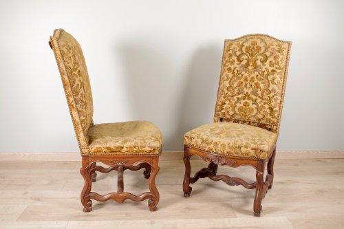 """17th century - Louis XIV chairs """"os de mouton"""""""