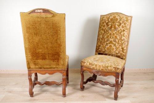"""Louis XIV - Louis XIV chairs """"os de mouton"""""""