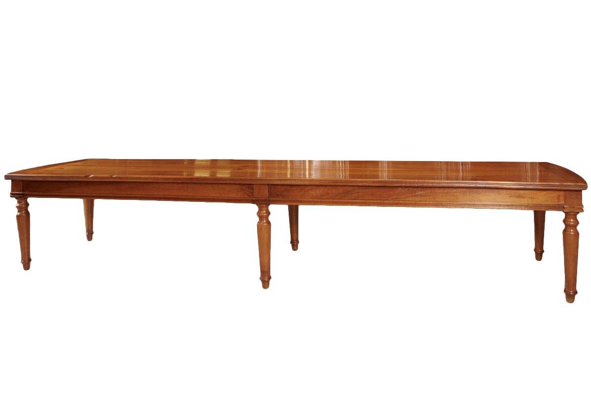 Grande table de ch teau poque directoire xviiie si cle for Tres grande table a manger