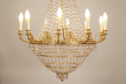 Grand lustre époque Empire - Luminaires Style Empire