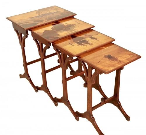 Art-Nouveau Nesting tables -  Emile Gallé