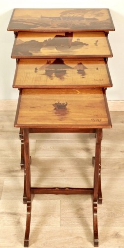 Art-Nouveau Nesting tables -  Emile Gallé - Furniture Style Art nouveau