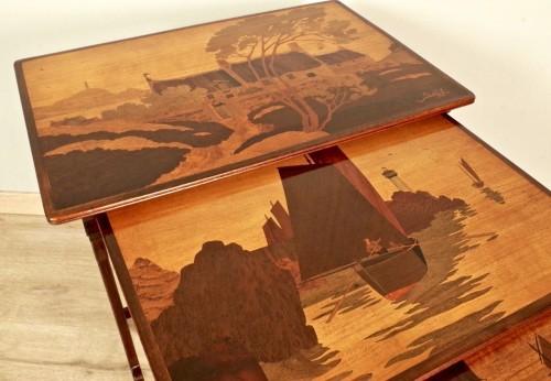 Art-Nouveau Nesting tables -  Emile Gallé -
