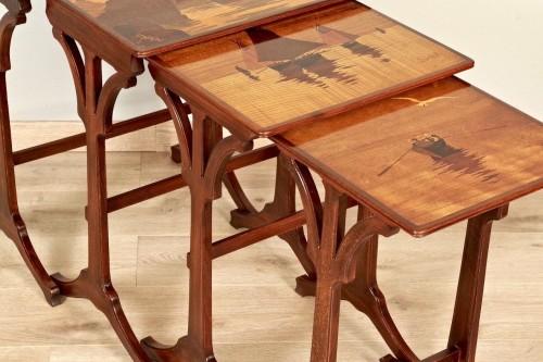 20th century - Art-Nouveau Nesting tables -  Emile Gallé