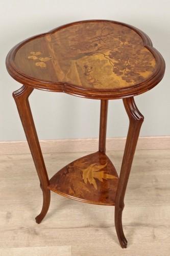 Art Nouveau pedestal signed Gallé - Furniture Style Art nouveau