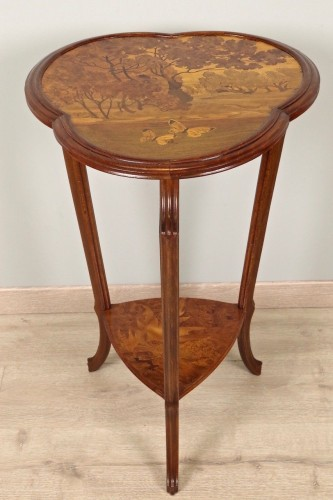 Furniture  - Art Nouveau pedestal signed Gallé