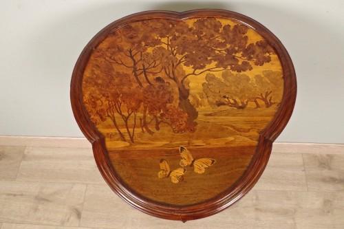 Art Nouveau pedestal signed Gallé -