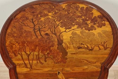Art Nouveau pedestal signed Gallé - Art nouveau