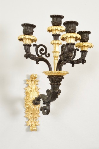 Charles X period wall lights - Lighting Style Restauration - Charles X