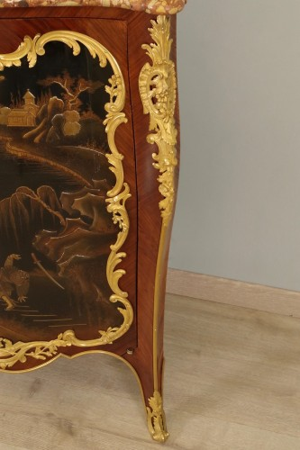 Antiquités - 19th century Corner cabinet stamped Millet