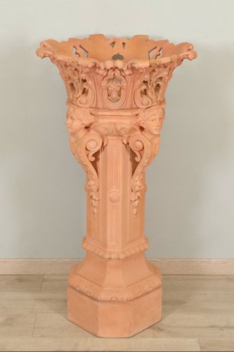 Column and its planter, Napoleon III - Decorative Objects Style Napoléon III