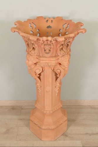 Decorative Objects  - Column and its planter, Napoleon III