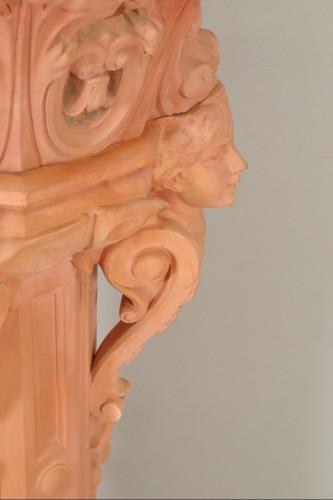 Antiquités - Column and its planter, Napoleon III