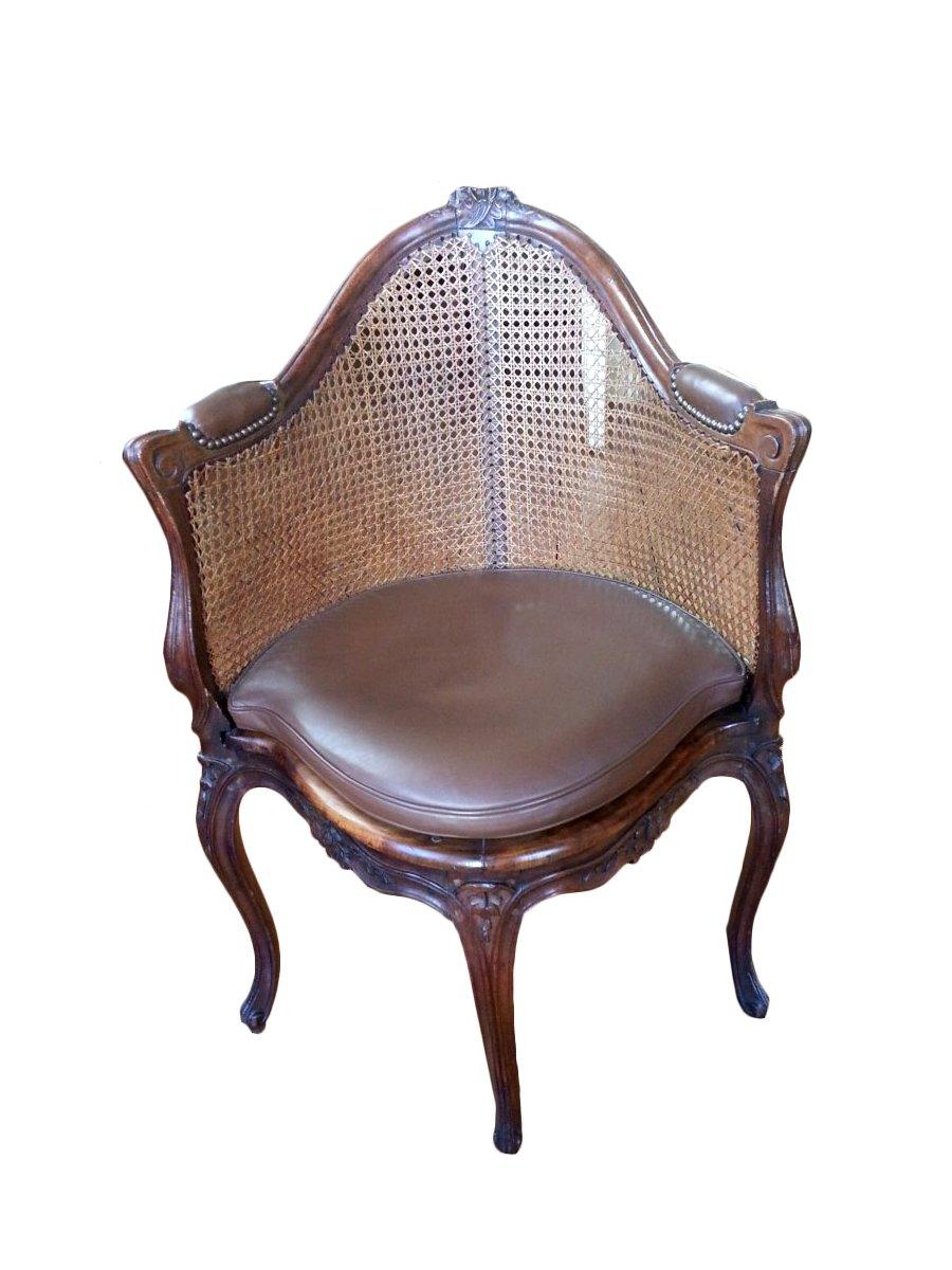 french louis xv fauteuil de bureau. Black Bedroom Furniture Sets. Home Design Ideas