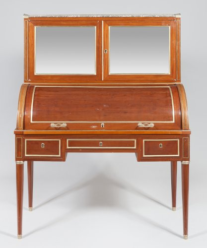 A Louis XVI mahogany cylinder desk - Furniture Style