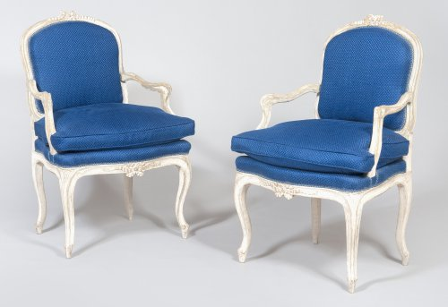 Pair of 18th century patinated wood chairs
