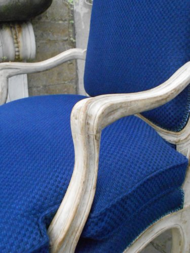 Transition - Pair of 18th century patinated wood chairs