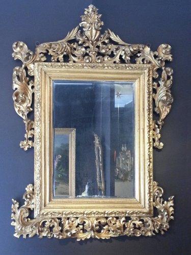 italian giltwood mirror, 18th century