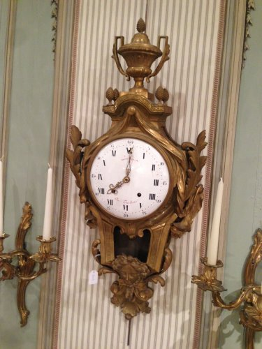 French Louis XVI bronze Cartel clock