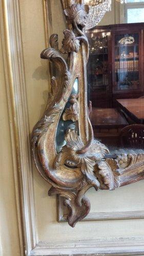 Louis XV giltwood mirror -