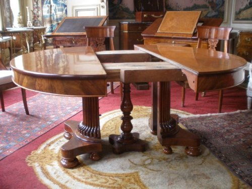 Furniture  - A mahogany table, Charles X period